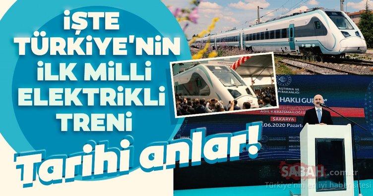 Tarihi anlar! İşte Türkiye'nin milli elektrikli treni