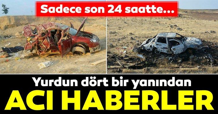Bayram tatilinde trafik kazalarının acı bilançosu: 52 ölü, 427 yaralı!