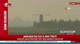 S-400 hava savunma sistemi testi başladı! İşte S-400 testlerinden ilk görüntüler...