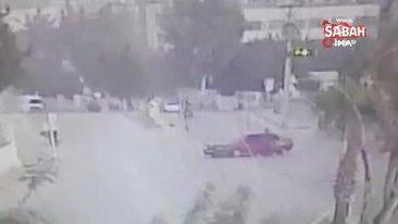 Drift yaparken motosiklete böyle çarptı   Video