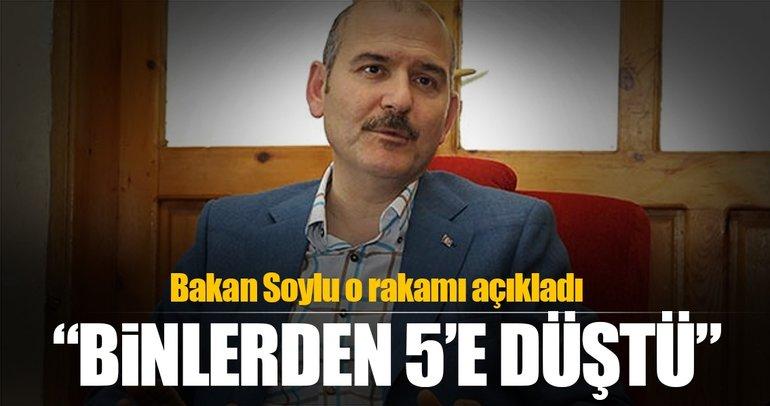 Bakan Soylu: Türkiye'de sadece 5 kişi terör örgütüne katıldı