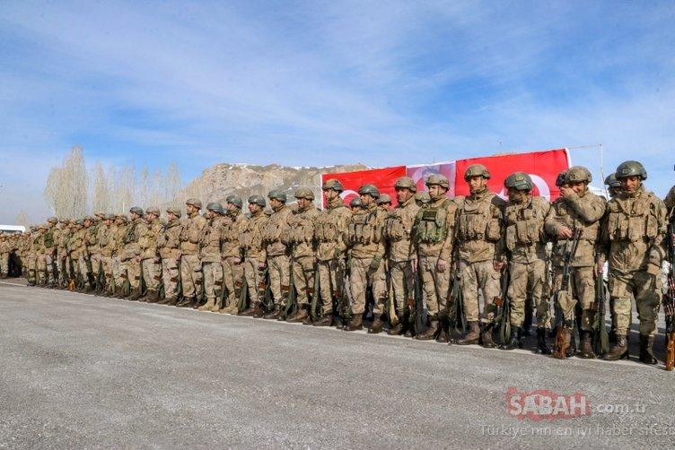 SON DAKİKA: Kahraman Komandolarımız Bahar Kalkanı Harekatı'na dualarla uğurlandı