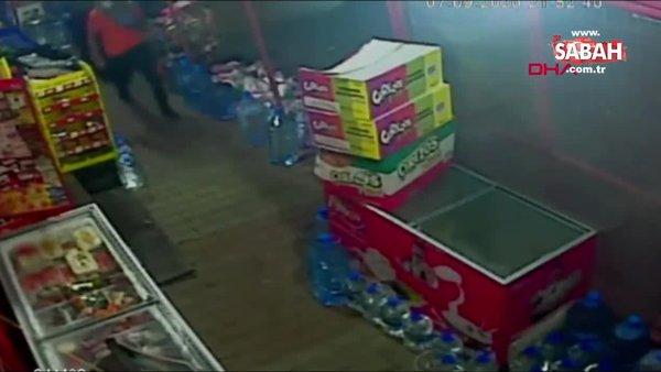 Sultangazi'de silahlı market soygunu kamerada | Video