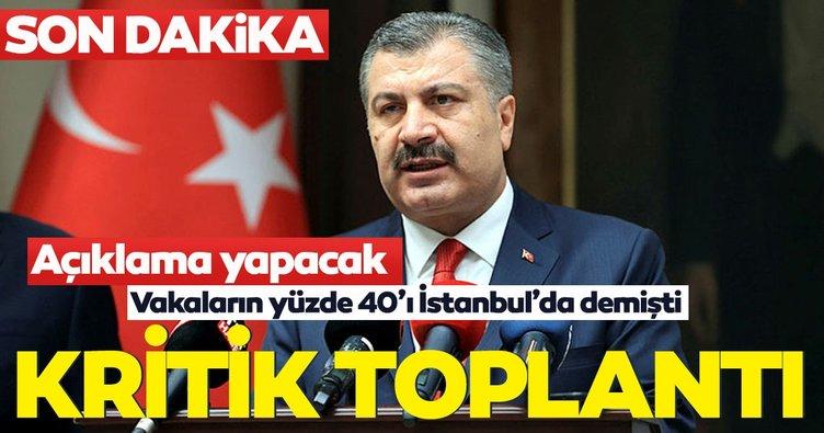 Son dakika: Bakan Koca kritik toplantı için İstanbul Valiliği'nde!
