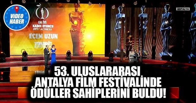 53. Uluslararası Antalya Film Festivali Kapanış Töreni Gerçekleşti