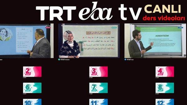 TRT EBA TV izle! (6 Nisan 2020 Pazartesi) 'Uzaktan Eğitim' Ortaokul, İlkokul, Lise dersleri canlı yayın   Video