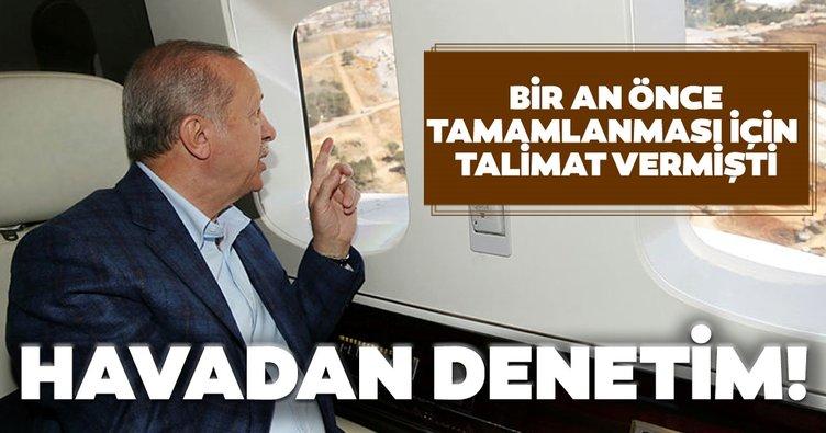 Son dakika haberi: Başkan Erdoğan, Atatürk Havalimanı ve Sancaktepe ile Başakşehir İkitelli Şehir Hastanelerini havadan inceledi