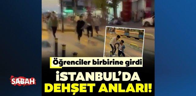 Zeytinburnu'nda dehşet anları: Öğrenciler birbirine girdi...