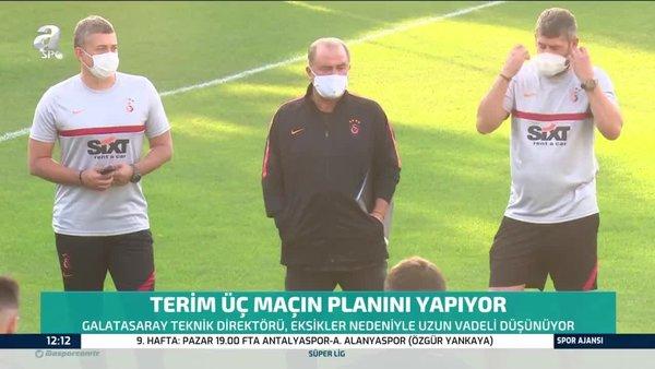Galatasaray'da Fatih Terim üç maçın planını yapıyor