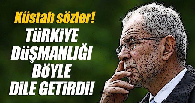 Türkiye düşmanlığını böyle dile getirdi!