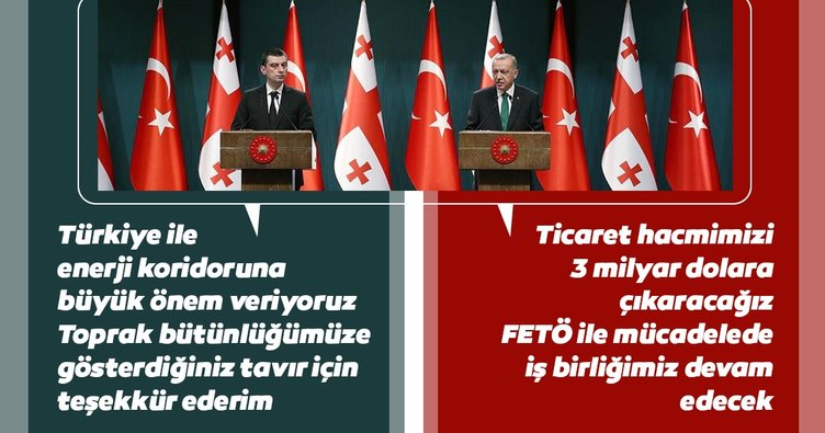 Başkan Erdoğan: Gürcistan ile ticaret hacmimizi 3 milyar dolara çıkaracağız