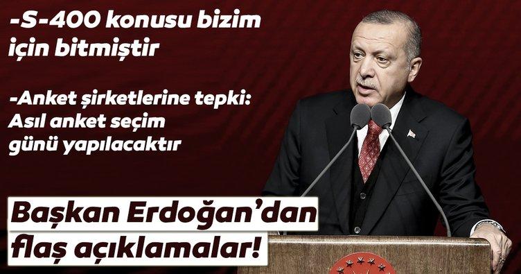 Son Dakika: Başkan Erdoğan'dan flaş seçim anketi açıklaması