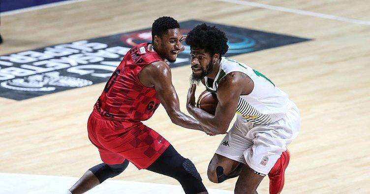 Bursa'da Gaziantep Basketbol kazandı