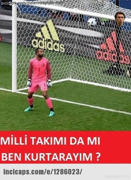 Hırvatistan - Türkiye maçı capsleri