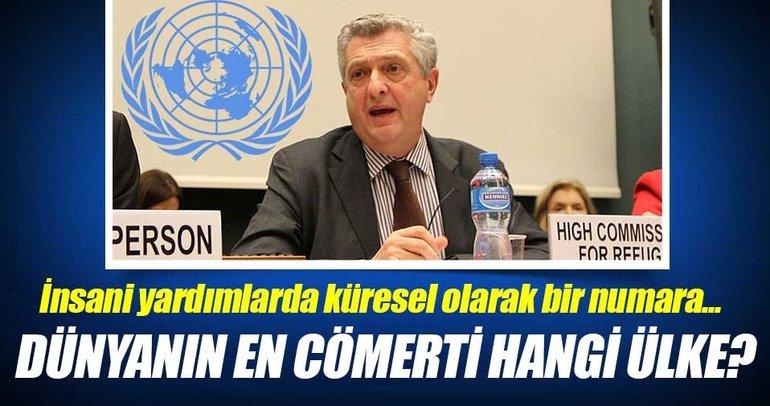 Türkiye küresel olarak cömert bir ülke