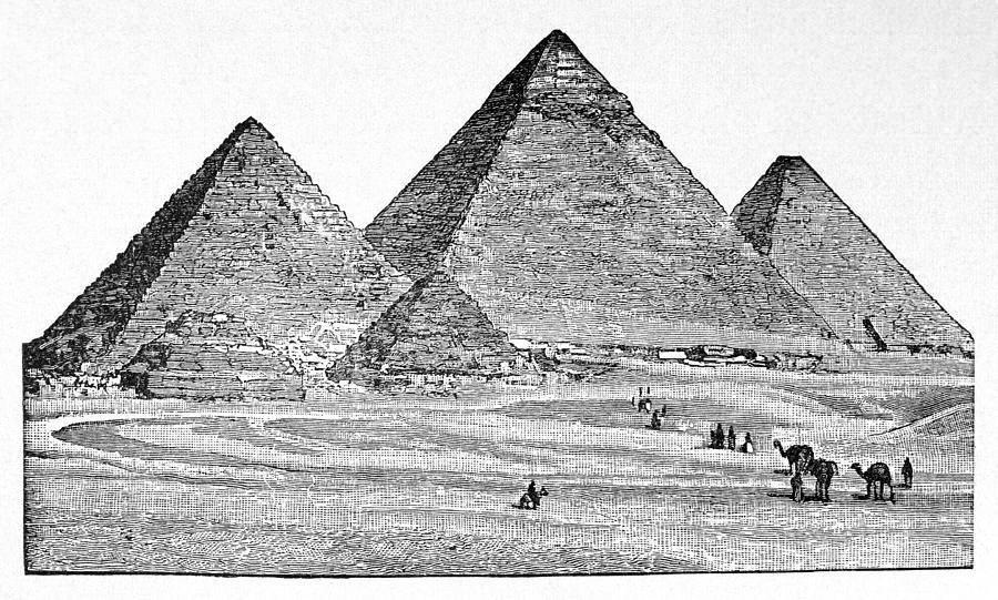 Белые египетские картинки черно