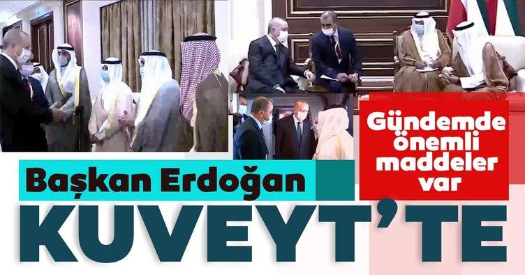 Son dakika: Başkan Erdoğan Kuveyt'te! Emir El Cabir'e taziye ziyaretinde bulundu