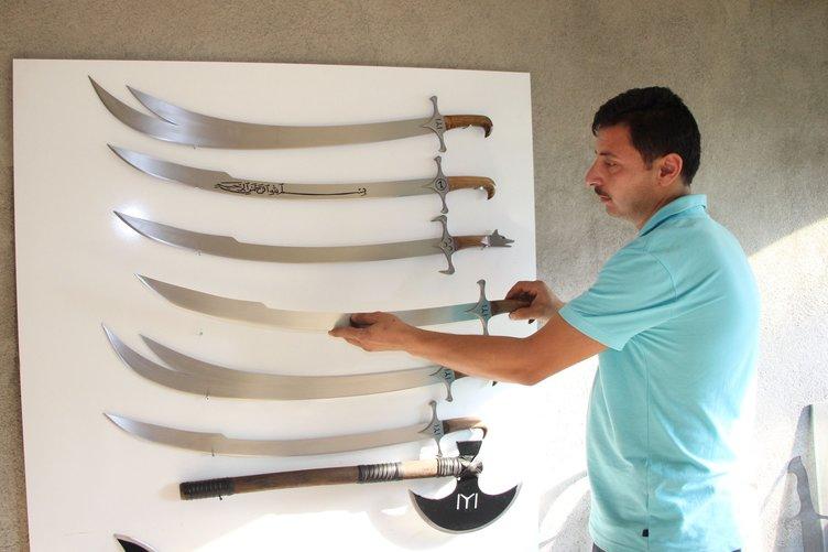 İzlediği diziden etkilenen kaynakçı kılıç ustası oldu