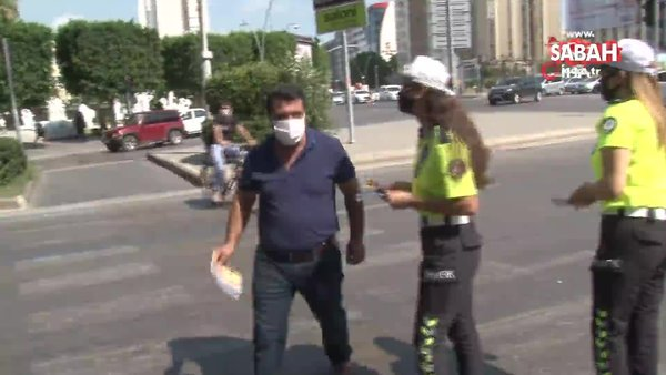 Polisin korona virüs uyarısına 'Acele gitmemiz lazım' yanıtını verdi | Video