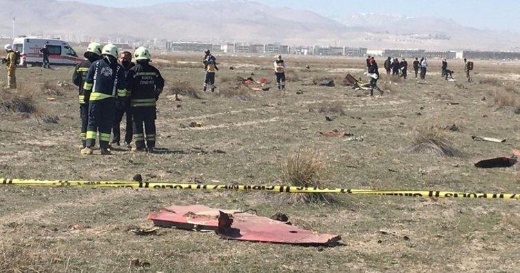 Konya'da askeri eğitim uçağının düşme anına ait görüntü ortaya çıktı