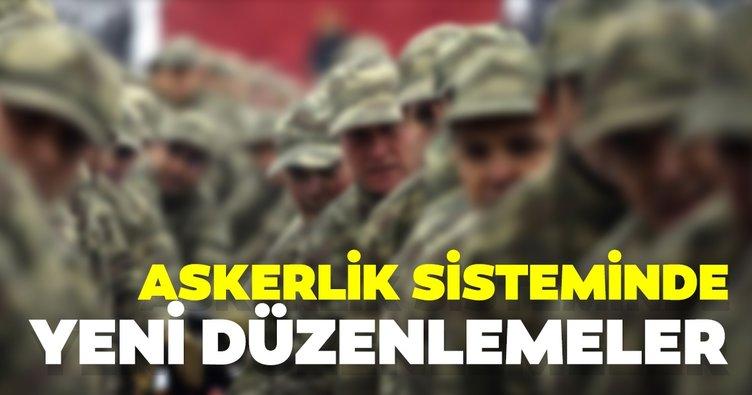 Son dakika! Askerlik sisteminde yeni düzenlemeler...