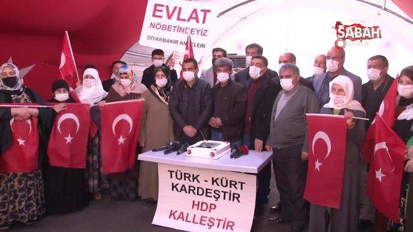 Evlat nöbetindeki aileler Başkan Erdoğan'ın doğum günü kutladı   Video