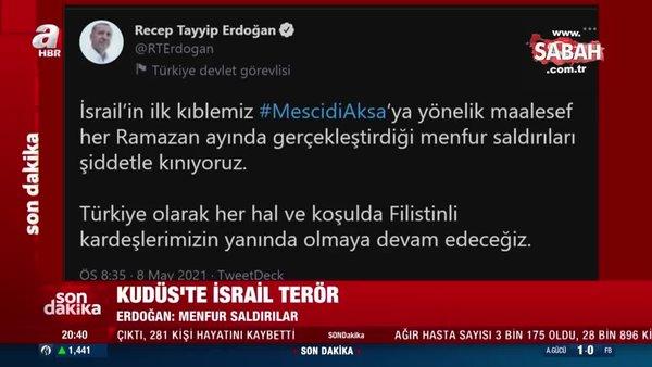 Başkan Erdoğan'dan İsrail'in Filistin'e düzenlediği alçak saldırıya kınama | Video