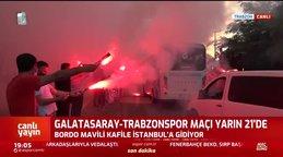 Trabzonspor G.Saray deplasmanına böyle uğurlandı!