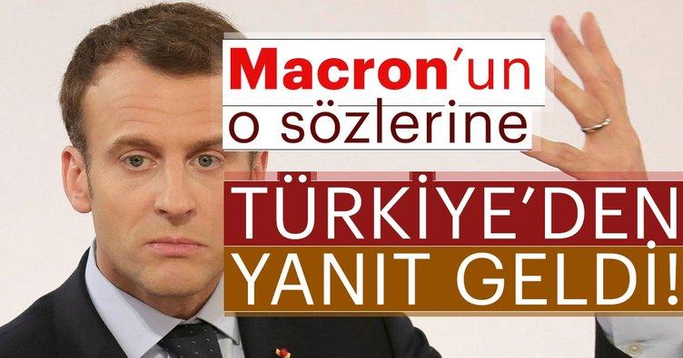 Son Dakika: Hükümet Sözcüsü Bekir Bozdağ'dan Macron'a yanıt