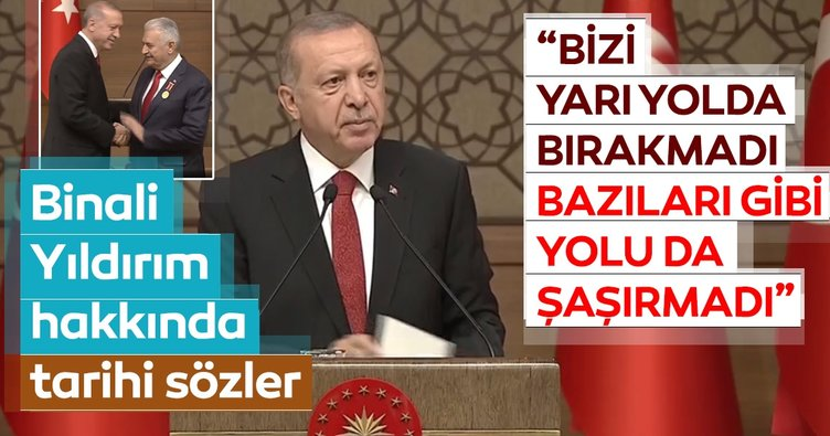 Başkan Erdoğan Binali Yıldırım'a Devlet Şeref Madalyası Tevcih etti