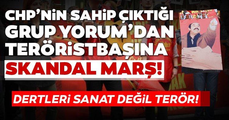 Dertleri sanat değil terör! CHP'nin sahip çıktığı Grup Yorum'dan DHKP-C elebaşına skandal marş