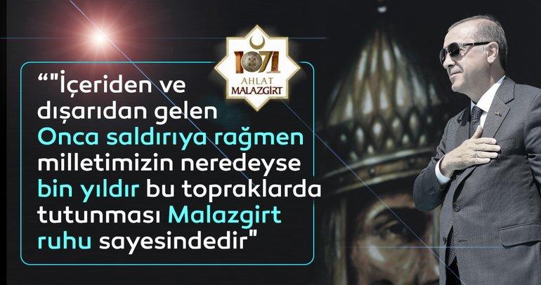 Son dakika: Başkan Erdoğan'dan Malazgirt ve Zafer Haftası Mesajı