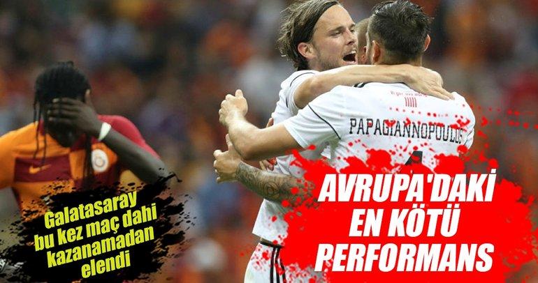 Galatasaray'dan Avrupa kupalarına erken veda