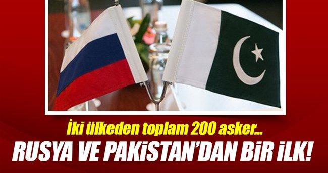 Pakistan ve Rusya'dan ilk ortak askeri tatbikat!