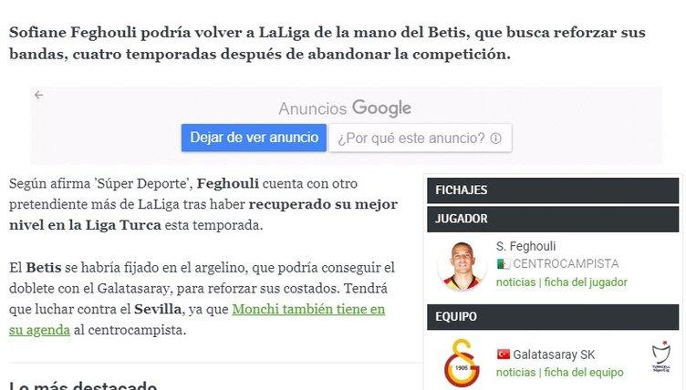 İspanyollar Feghouli için kapışıyor!
