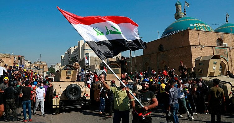 Irak'taki gösterilere müdahale: 15 yaralı