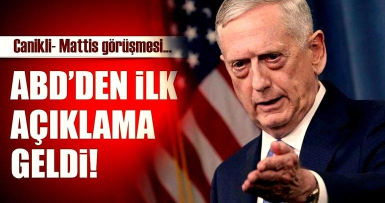 Son dakika: Pentagon'dan Türkiye açıklaması!