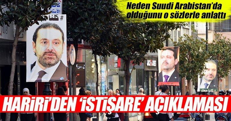 Hariri'den 'istişare için Suudi Arabistan'dayım' açıklaması