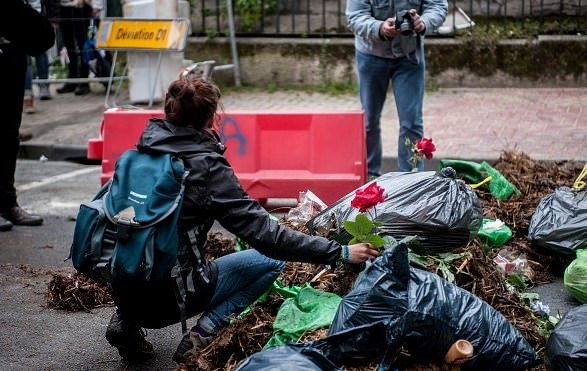 Fransa'da tezekli protesto