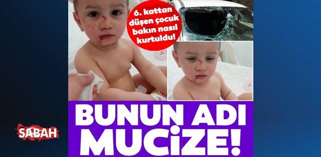 İstanbul'da mucize kurtuluş: 6. kattan koltuğa düştü! Burnu bile kanamadı!
