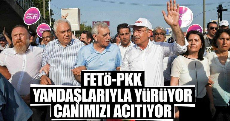 FETÖ-PKK yandaşlarıyla yürüyor canımızı acıtıyor