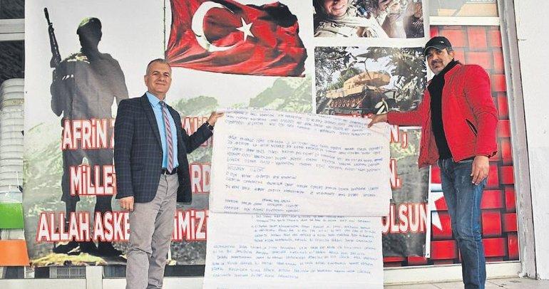 Mehmetçiğe moral desteği