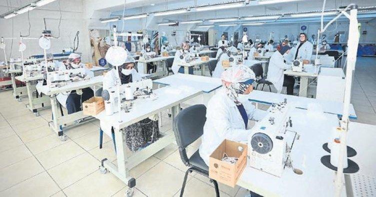 Kurslarda üretilen maskeler halka dağıtılacak