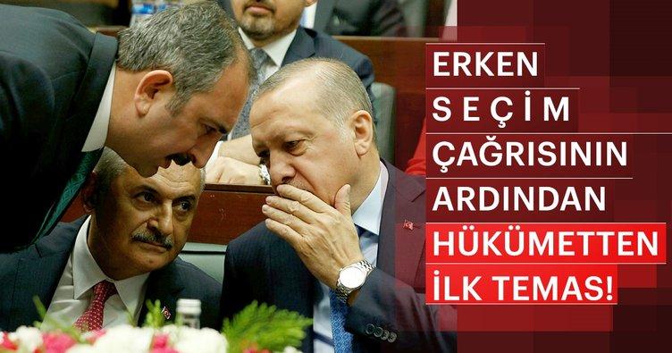 MHP Genel Başkanı Devlet Bahçeli ile Adalet Bakanı Abdülhamit Gül'ün görüşmesi sona erdi