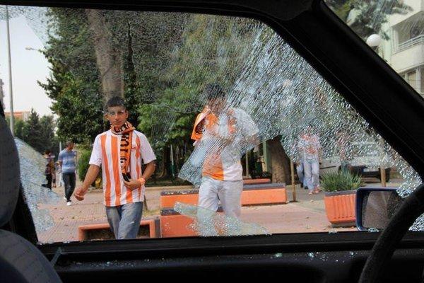 Adana Demirspor - Adanaspor maçı öncesi kavga