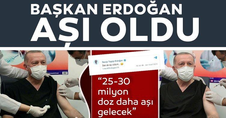 Son dakika haberi: Başkan Erdoğan Ankara Şehir Hastanesi'nde corona virüsü aşısı yaptırdı! İşte ilk açıklama...