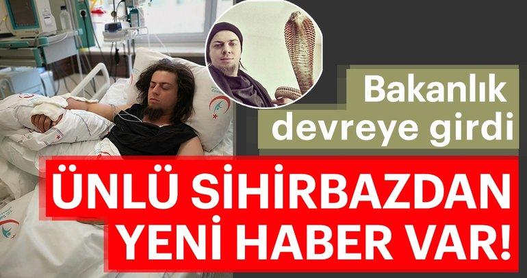 Kobra yılanı tarafından ısırılan illüzyonist Aref ile ilgili Sağlık Bakanlığı'ndan açıklama var