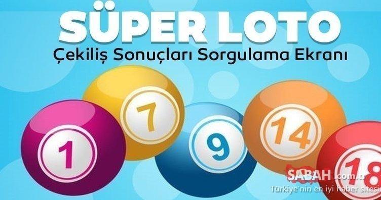 Süper loto sonuçları saat kaçta açıklanacak? 19 Kasım 2020 Milli Piyango Online ile Süper Loto çekiliş sonuçları sorgulama ekranı!