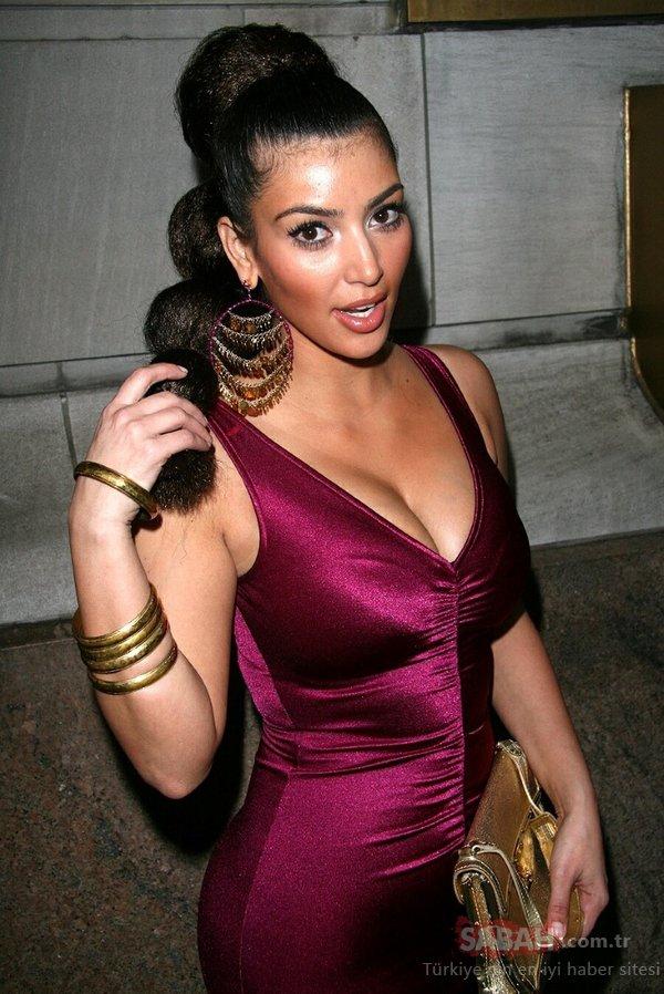 Kim Kardashian'ın estetiksiz hali ortaya çıktı! Görenler inanamıyor