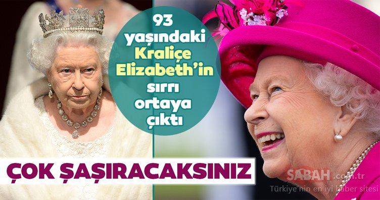 Kraliçe Elizabeth'in sırrı ortaya çıktı! İşte 93 yaşındaki Kraliçe Elizabeth'in kimsenin bilmediği o sırrı